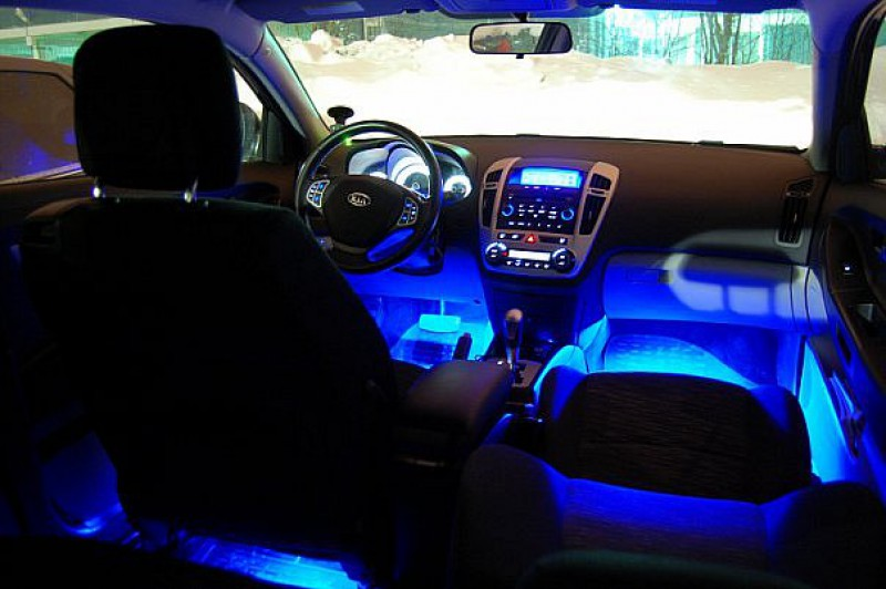 Подсветка в салоне фото - Как сделать подсветку в салоне Шевроле Авео для ног фото отчет